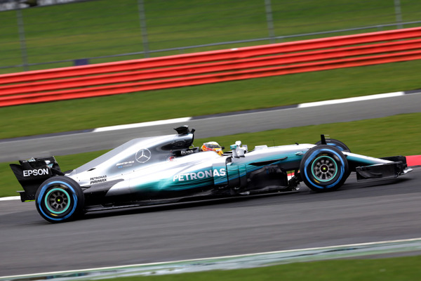 Hamilton on track with new w08 side 2