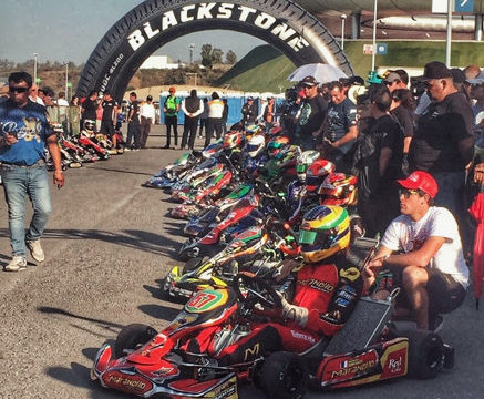 Nicolas Gonzales ready to start the race in Guadalajara