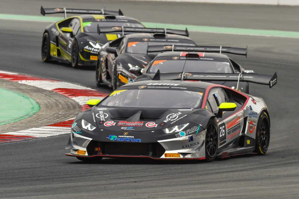 Breukers and Jefferies won again in the Lamborghini Super Trofeo Middle East