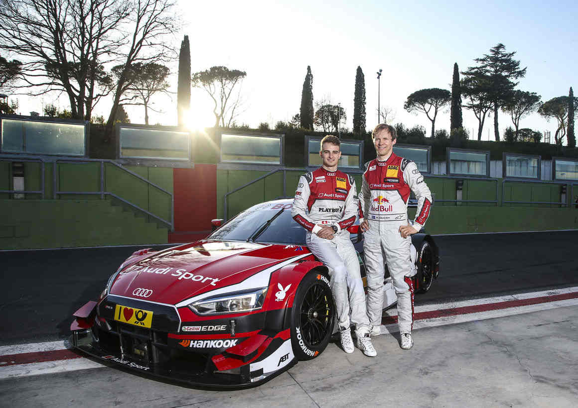 Race track debut for the new Audi RS 5 DTM drivers