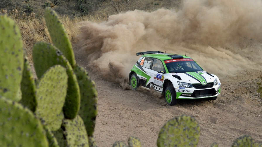 Saturday WRC 2 in Mexico Tidemand heads a thriller