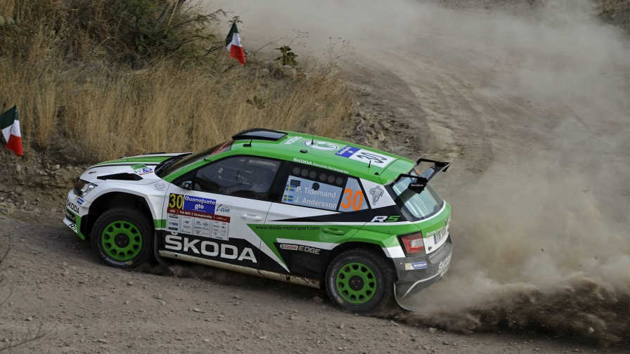 Sunday WRC 2 in Mexico Two in a row for Tidemand