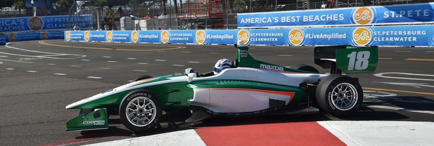 Top-5 Finish for Kyle Kaiser in Indy Lights Season Opener in St. Petersburg