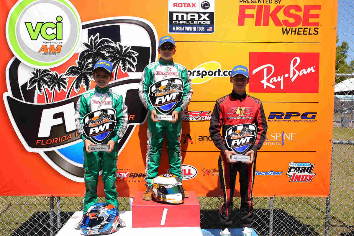 Tyler Gonzalez and Tyler Maxson made it a SCR 1 - 2 finish in Rotax Junior