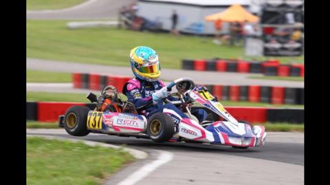 Simon Belanger racing hard