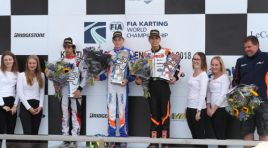 CRG AND BORTOLETO ON THE PODIUM  AT THE OKJ WORLD CHAMPIONSHIP
