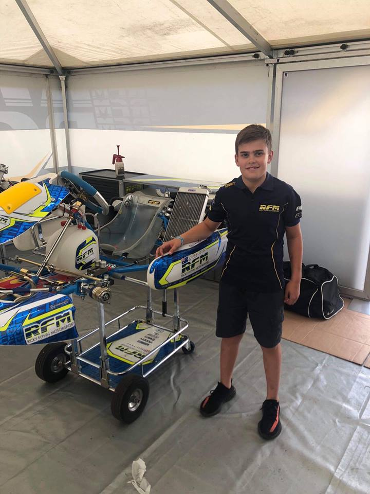 New Colours for Wharton at WSK Final Cup