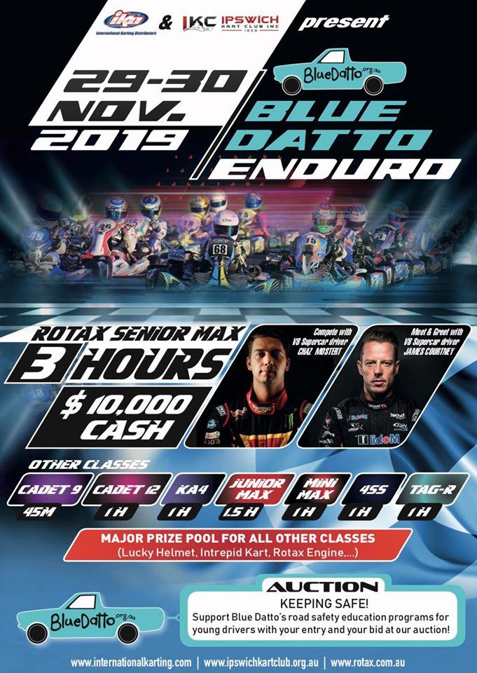 """$10k """"Blue Datto"""" Enduro for Ipswich"""
