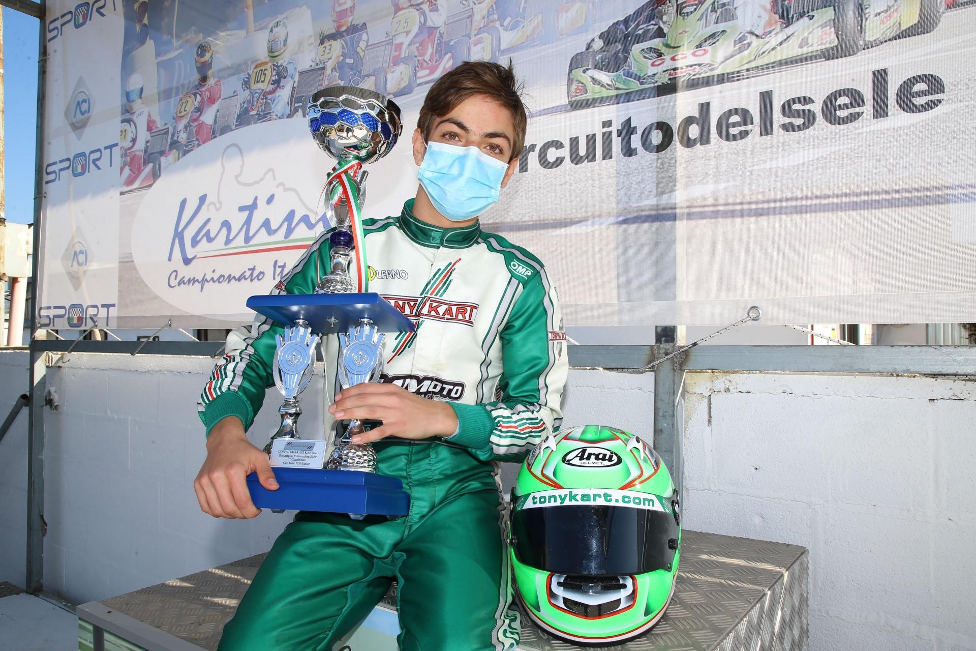 Gamoto Kart wins the Coppa Italia in X30 Junior