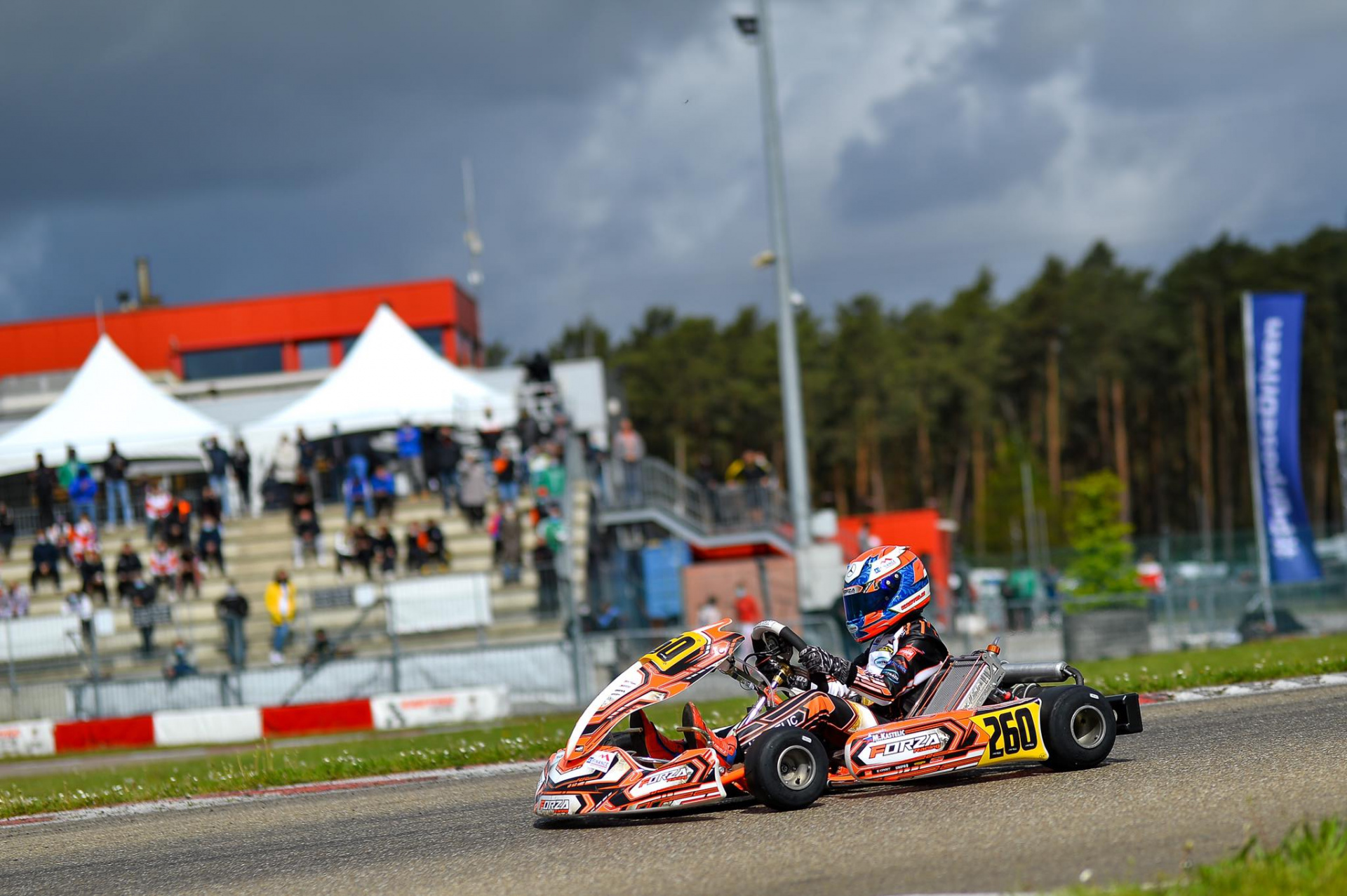 Mark Kastelic on track for the WSK Euro Series of Adria