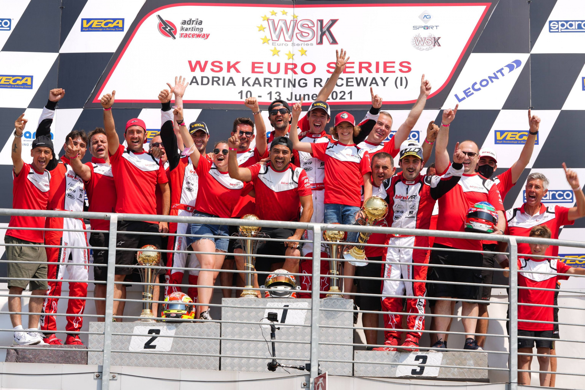 Red triumph in WSK at Adria